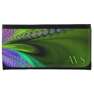 Delight in Color Fractal Monogram Wallet