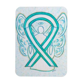 Cervical Cancer Awareness Ribbon Angel Magnet Gift