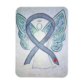 Diabetes Awareness Ribbon Angel Art Magnets