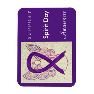 Spirit Day Awareness Ribbon Angel Custom Magnet
