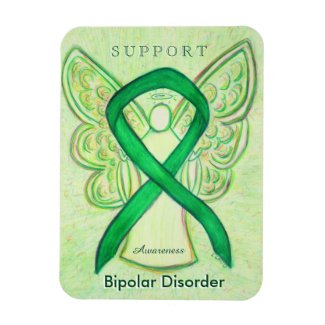 Bipolar Disorder Awareness Ribbon Angel Magnets