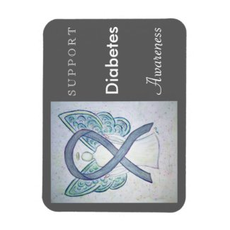 Diabetes Awareness Ribbon Angel Custom Magnet