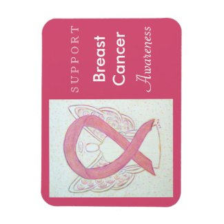 Breast Cancer Awareness Ribbon Angel Custom Magnet