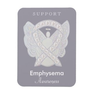 Emphysema Awareness Ribbon Angel Custom Magnet