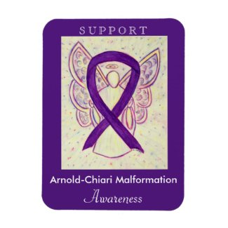 Arnold-Chiari Malformation Awareness Ribbon Magnet