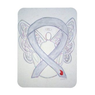 Diabetes Awareness Ribbon Angel Art Magnet