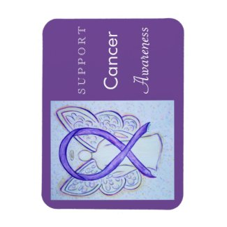 Cancer Awareness Violet Ribbon Angel Custom Magnet