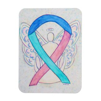 Thyroid Cancer Awareness Ribbon Angel Gift Magnet