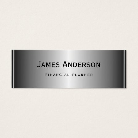 Classy Silver and Black Professional Financial Planner Business Cards Template