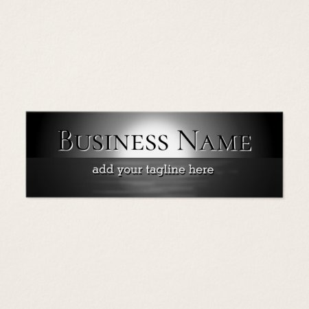 Reflection of the Moon Financial Planner Mini Business Cards