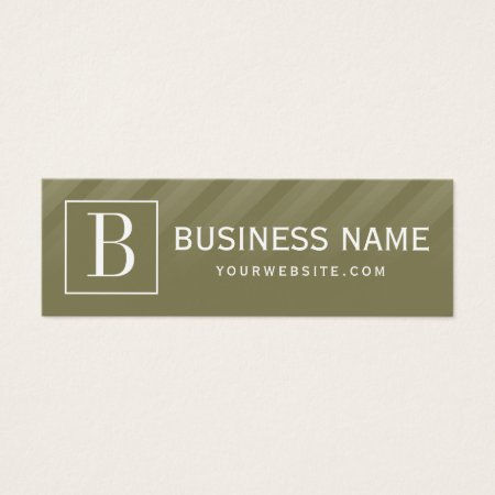 Dark Green Angular Stripes Stylish Thin Bookkeeper Business Cards Template
