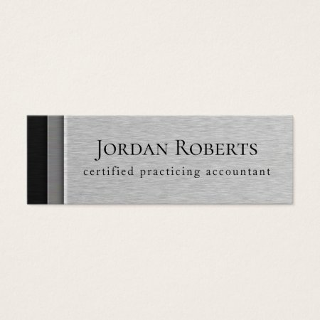 Layered Steel Faux Metal Financial Services Business Cards Template
