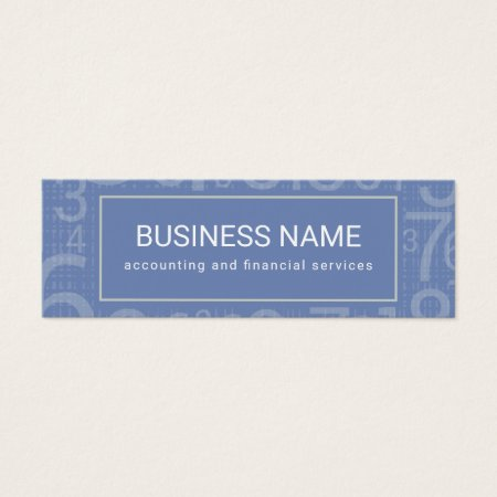 Modern Bunch of Numbers Custom Color Mini Accountant Business Cards Template