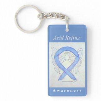 Acid Reflux Awareness Guardian Angel Keychain