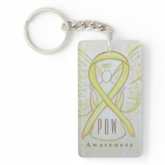 POW - Prisoners of War Awareness Ribbon Keychains