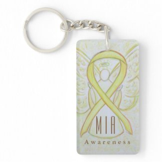 MIA - Missing in Action Awareness Ribbon Keychains