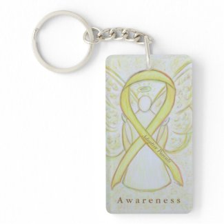 Adoptive Parents Angel Awareness Ribbon Keychain