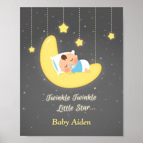 Twinkle Twinkle Little Star Baby Nursery Decor Poster