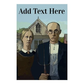 American Gothic, Add Text Poster