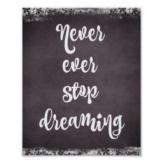 Chalkboard Typography: Dream Quote Poster