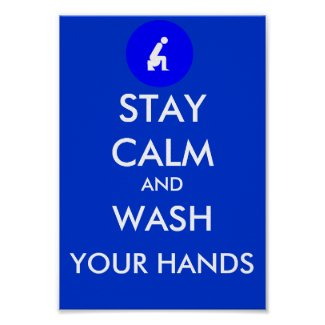 Blue keep calm and carry on posters