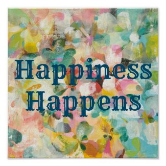 Happy Garden   Soft Pastel Petals Poster