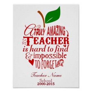 Teacher Thank you Poster Print