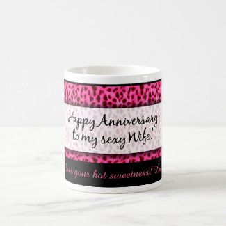 Any Year Anniversary Sexy Wife (Pink Rose) Coffee Mug