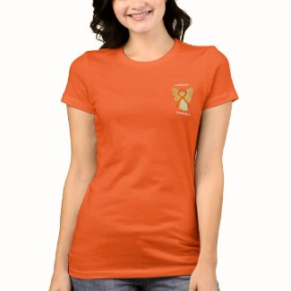 Leukemia Awareness Ribbon Angel Custom Shirts