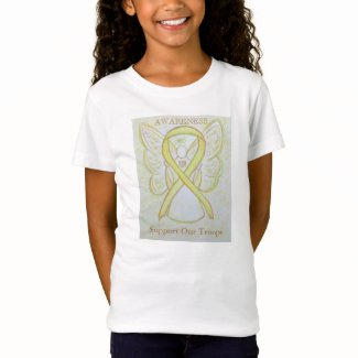 Support Our Troops Yellow Awareness Ribbon Shirt