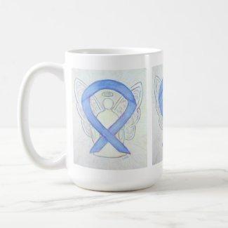 Periwinkle Awareness Ribbon Angel Art Mug