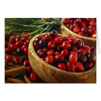 Cranberries in bowls card