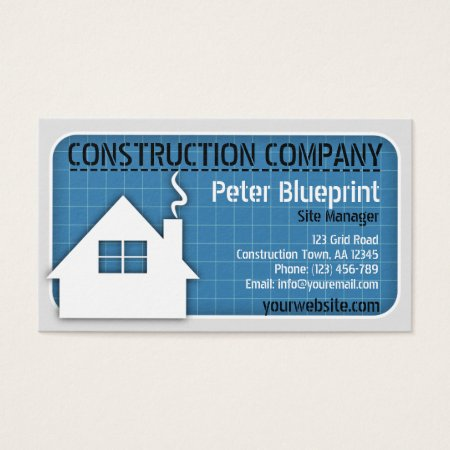 Modern Elegant Gold Home Icon Construction Business Cards Template