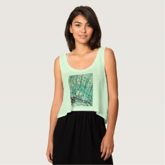 plant cells micrography flowy crop tank top