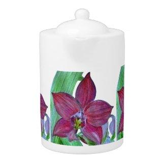 Terrestrial Orchid Teapot