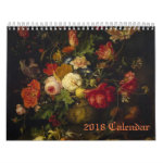 Floral Victorian Oil Paintings 2018 Calendar