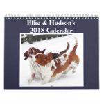 Ellie & Hudson Cute 2018 Basset Hound Calendar