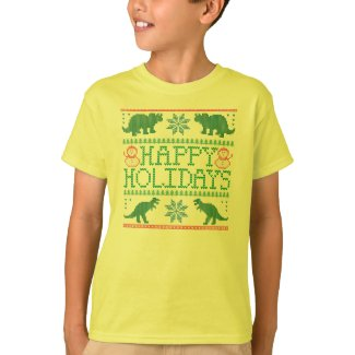 Kids' Dinosaur Ugly Christmas Sweater