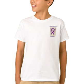 Cancer Survivor Awareness Ribbon Angel Custom Tee