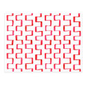Red Geometric Painted Pattern