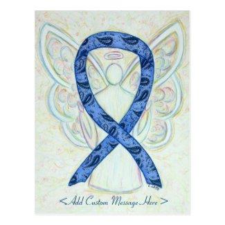 Thyroid Paisley Awareness Ribbon Angel Postcard