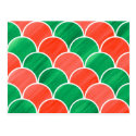 Red Green Gouache Scale Pattern