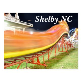 shelby nc home of cleveland county fair postcard