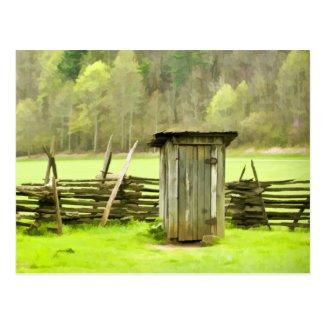 Smoky Mountains Outhouse Postcard