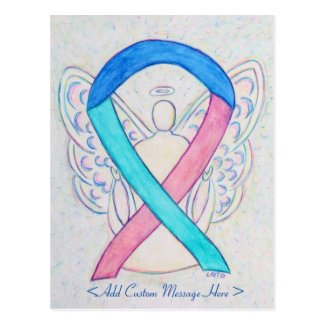 Thyroid Cancer Awareness Ribbon Angel Postcard