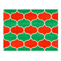 Red Green Christmas Ogee Pattern