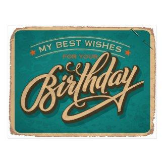 A Blue Birthday Postcard