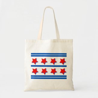 Tote Bag with Red, White and Blue Design