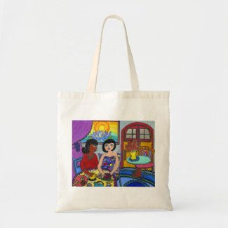 Interracial, Multicultural Tote Bag
