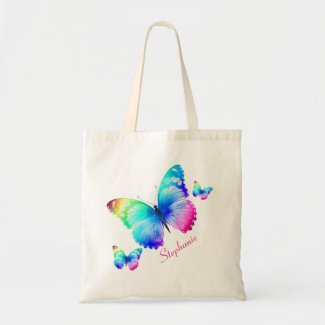 Personalized Butterflies Tote Bag